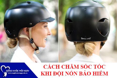 Cách chăm sóc tóc cho bạn nữ khi đội nón bảo hiểm nhiều