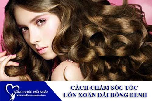 10 cách chăm sóc tóc uốn xoăn dài luôn bồng bềnh