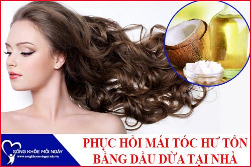 9 Cách phục hồi mái tóc hư tổn với dầu dừa