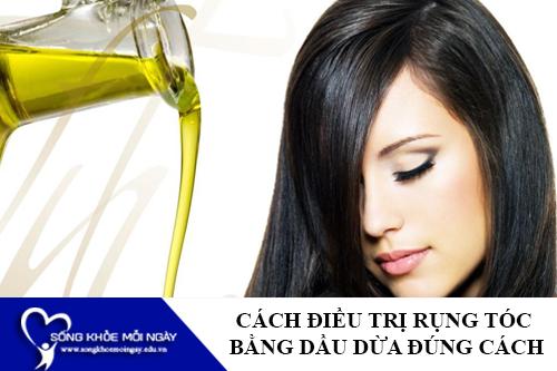 Cách điều trị rụng tóc bằng dầu dừa tại nhà hiệu quả