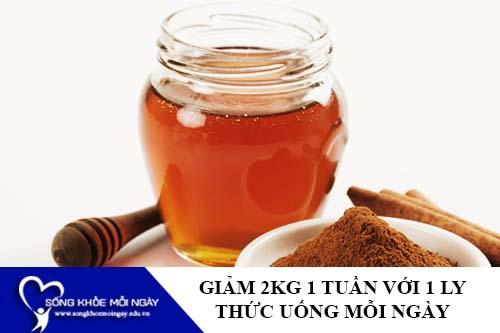 Giảm cân với mật ong 1 ly thức uống/ngày giảm 2Kg/tuần