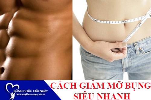 Cách giảm mỡ bụng siêu nhanh an toàn cho nam, nữ tại nhà