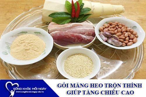 Gỏi Măng Thịt Heo Trộn Thính Giúp Tăng Chiều Cao