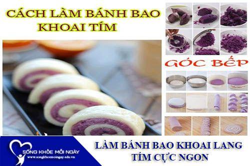 Cách Làm Bánh Bao Khoai Lang Tím Cực Ngon