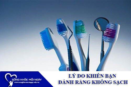 Lý Do Khiến Bạn Đánh Răng Không Sạch