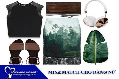 Mix & Match Cho Dáng Người Gầy, Vai Ngang, Chân Cong