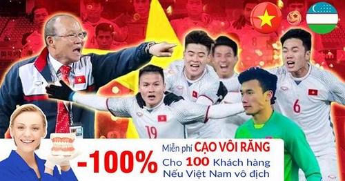 U23 Việt Nam Tạo Nên Lịch Sử - Nha Khoa Đông Nam Khuyến Mãi Khủng