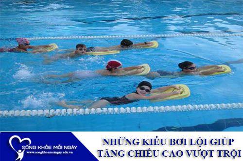 Những Kiểu Bơi Lội Giúp Tăng Chiều Cao Vượt Trội