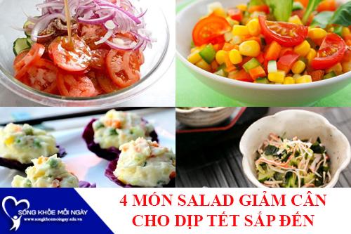 4 món salad đơn giản giảm cân mùa tết