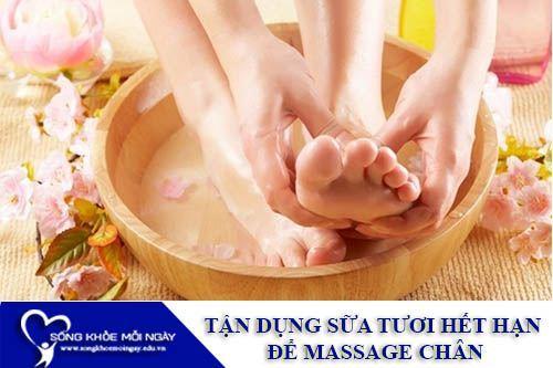 Tận Dụng Sữa Tươi Hết Hạn Để Massage Chân
