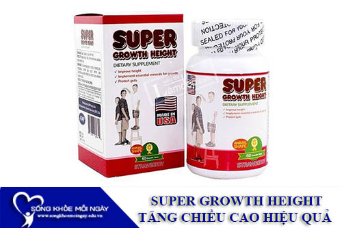 SUPER GROWTH HEIGHT - Viên Uống Tăng Chiều Cao Hiệu Quả