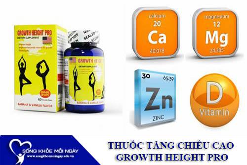 Thuốc Tăng Chiều Cao Growth Height Pro Của Mỹ