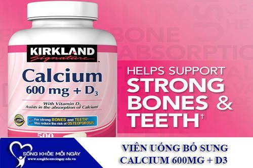 Viên Uống Bổ Sung Canxi Kirkland Calcium 600mg + D3 (500 Viên)